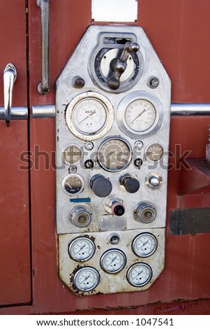 Old Fire Truck Control Panel