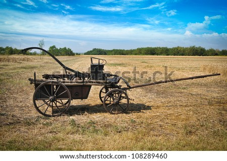 old fire wagon on field