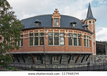 Old fish market in Gent