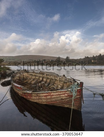 Old Fishing Boat in West Cork, Ireland