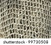 old fishing nets closeup - stock photo