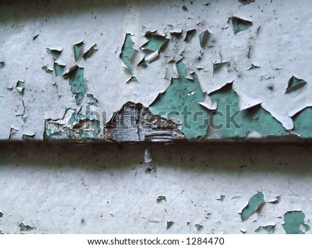 Old flaking paint - stock photo