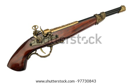 Old flintlock pistol