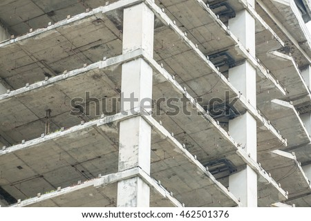 Old Floor Slab Post Tension Structure Stock Photo Royalty
