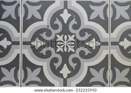 Old floor tiles close up as background. - stock photo