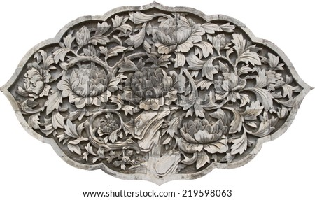 old flower stone wallpaper on white background
