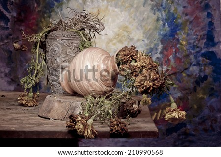 Old flowers still life Photography - stock photo