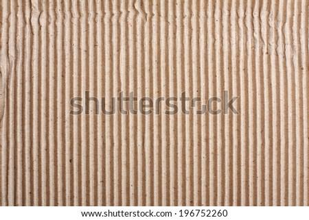 Old Folded Corrugated Cardboard Texture - stock photo