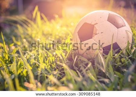 old football - stock photo