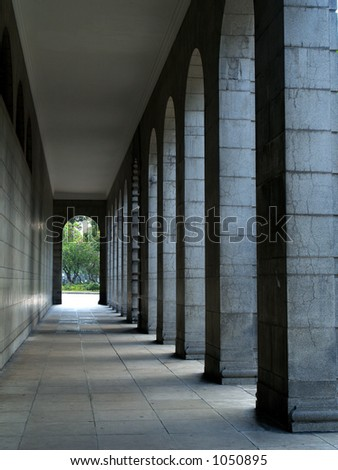 Old Fort Alley - stock photo