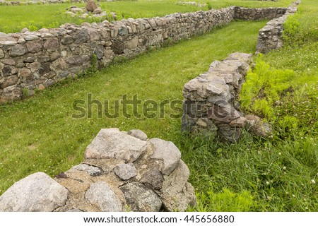 Old Fort Ruins - stock photo