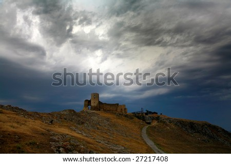 old fortress in the top of the hill