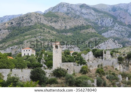 Old fortress of Old Bar, Montenegro