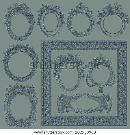 Old frame illustration - stock photo