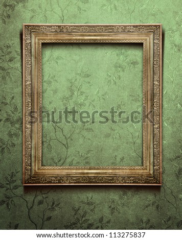 old frame in vintage interior
