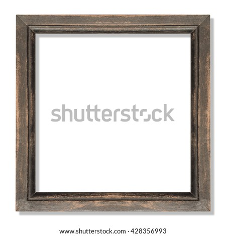 old frame ,wooden frame isolated on white
