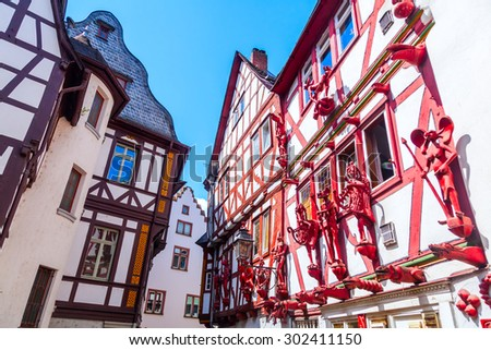 old framework houses in the old town of Limburg an der Lahn, Hesse, Germany