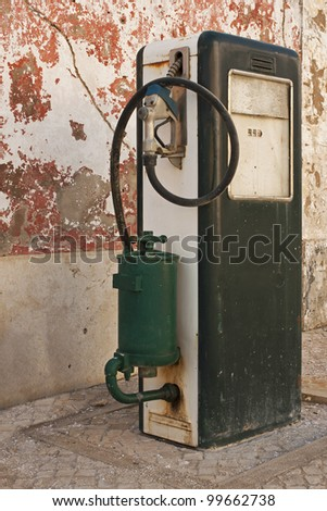 Old fuel pump supply - stock photo
