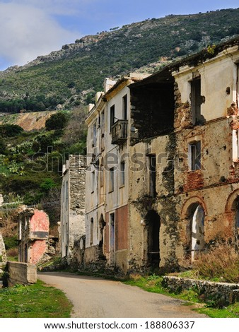 Old Gairo was partially destroyed by a flood in 1951, and in 1963 it was completely abandoned. It 's the most famous ghost town of Sardinia.