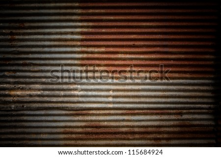 Old galvanized steel - stock photo