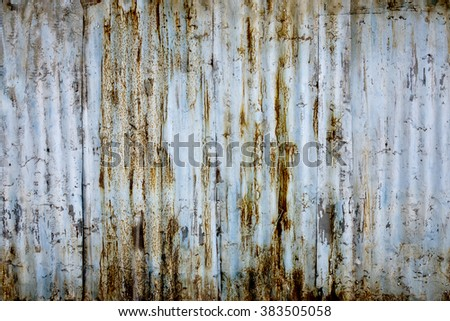 Old galvanized steel sheet full