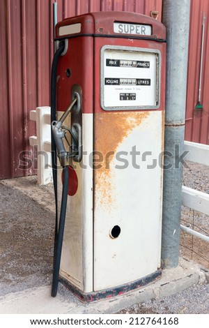 old gas pump - stock photo