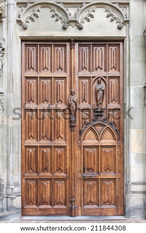 Old gate of the St. John's Cathedral, Den Bosch, the Netherlands - stock photo