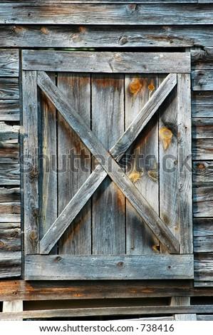 Old Georgia Barn Hay Loft Door Stock Photo Royalty Free 738416