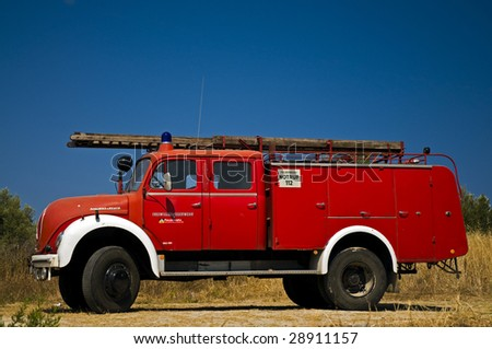 Old German Fire engine