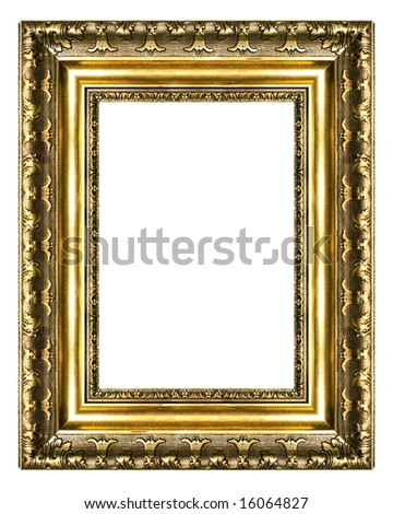 old gilded frame high res