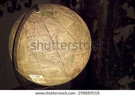Old globe - stock photo