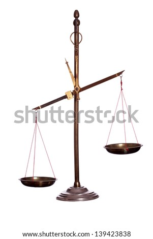 old golden scale - stock photo