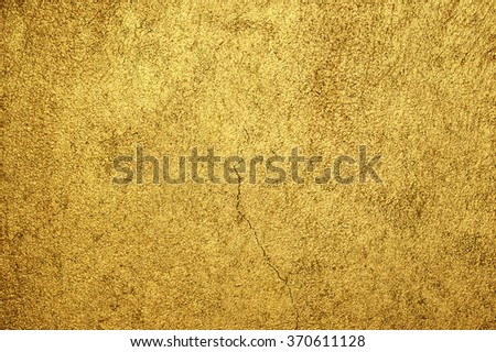 Old Golden wall background - stock photo