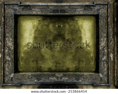 old Gothic frame background or texture