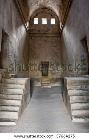 Old Granary at Gingee Fort in Tamil Nadu, India. - stock photo