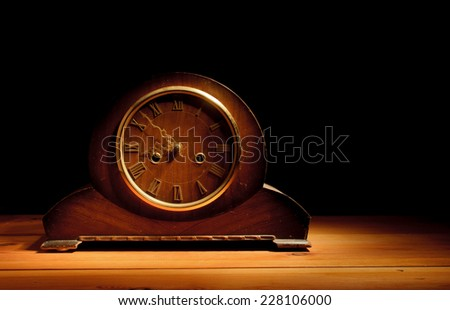 Old grandfather clock  - stock photo