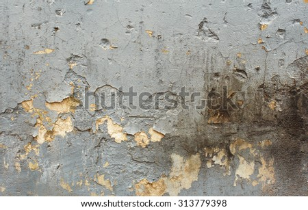 old gray cement, rough wall - stock photo