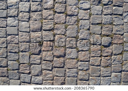 Old gray pavement. Background - stock photo