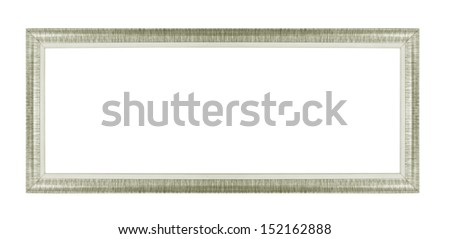 Old gray picture frames. Isolated on white background