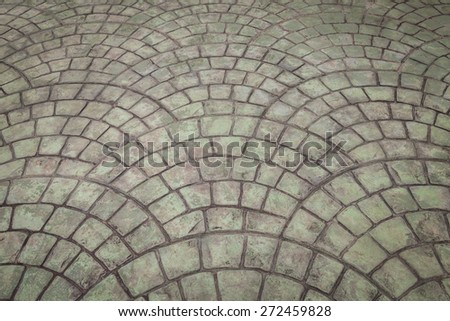 Old Gray stone block paving floor background
