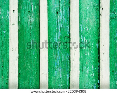 Old greed wood fence panels, Abstract, wall background, texture. - stock photo