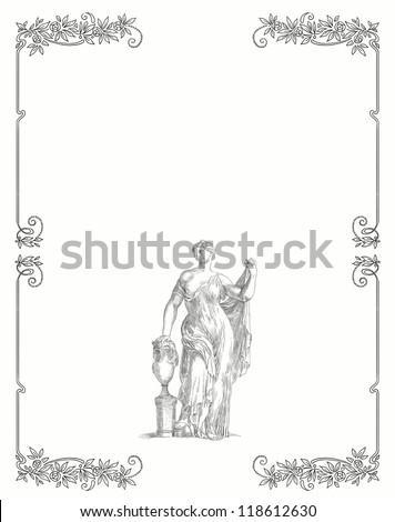 Old greek goddess - stock photo