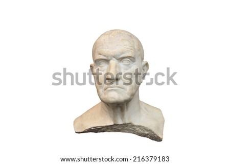Old Greek man marble bust