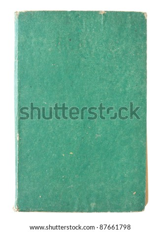 old green book pages isolated on a white background