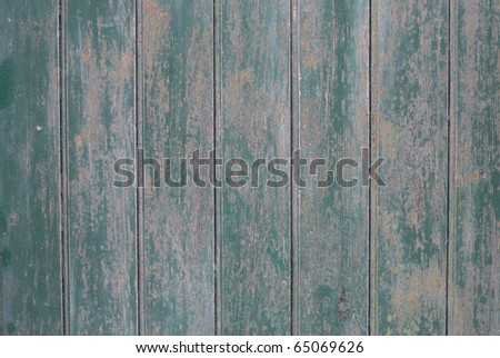 old green colored wooden plank surface - stock photo