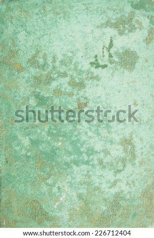 Old green cover of the book - stock photo