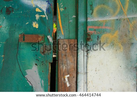 Old green door in Songkhla