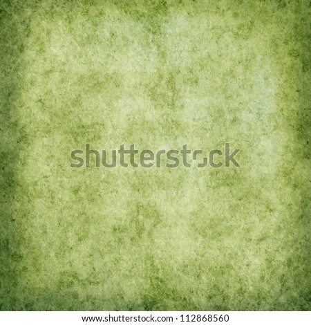 old green grunge background paper texture - stock photo