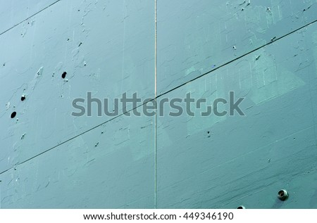 old green metal panels background - stock photo