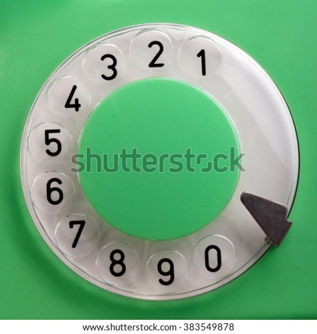 Old Green Rotary Telephone - stock photo